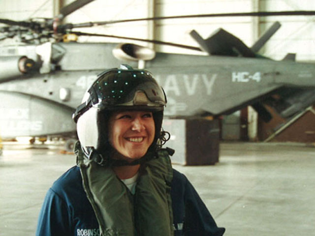 Elizabeth Perez Halperin while serving in the U.S. Navy. (Courtesy Elizabeth Perez Halperin)
