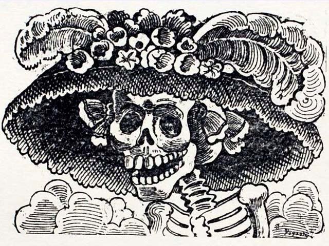 "José Guadalupe Posada's ""La Catrina."" (Courtesy New World Prints Collection)"