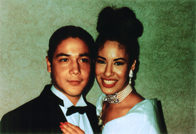 Chris Perez (left) with Selena (right) (Courtesy Chris Pérez)
