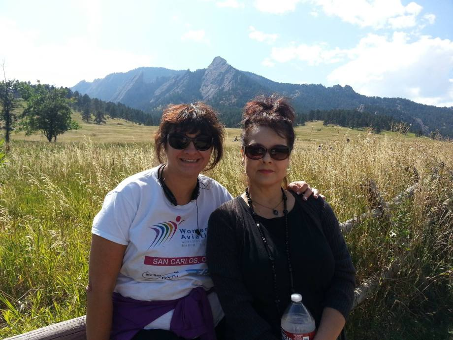 Graciela Tiscareño-Sato (left) with Sandra Artalejeo (right) meeting for the first time in Boulder. (Photo/Graciela Tiscareño-Sato)