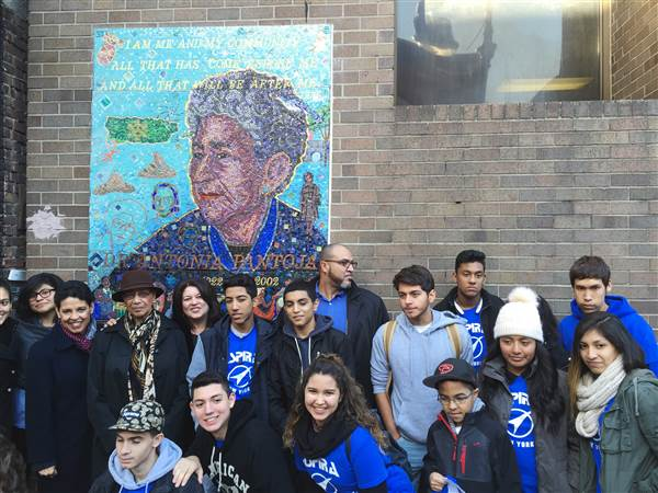 A mural for the late Antonia Pantoja, founder of Aspira and Presidential Medal of Freedom recipient, was unveiled Saturday, November 21, 2015 in New York City's El Barrio. (Photo: Kristina Puga)